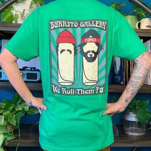 """Other - Burrito Gallery """"we roll them fat"""" tee"""